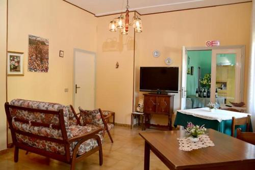 A seating area at Pensione Andrea