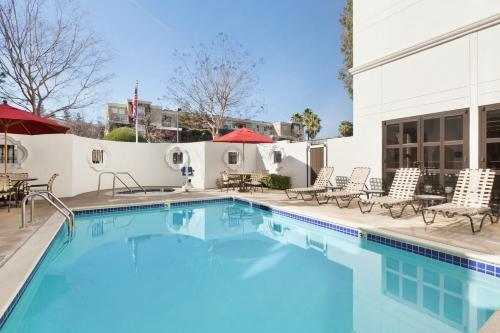 The swimming pool at or near Hilton Garden Inn Cupertino