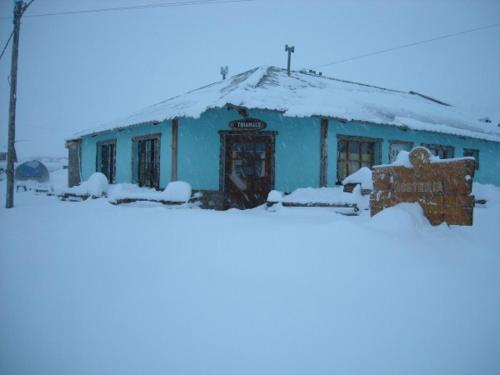 Hosteria Thiamalu durante el invierno