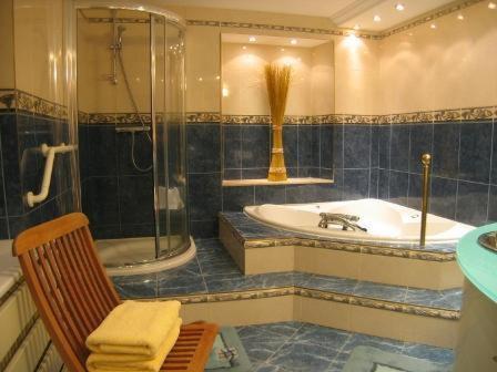 Ein Badezimmer in der Unterkunft La Roseraie Biebler