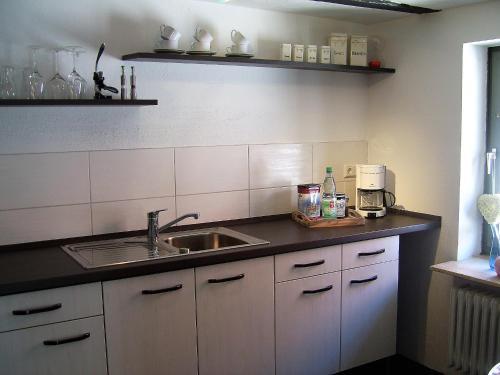 Küche/Küchenzeile in der Unterkunft Ferienhaus Zum Amthof