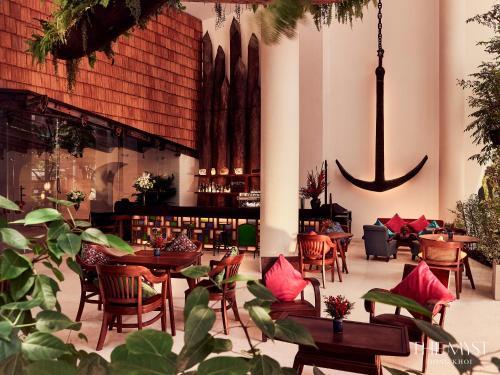 Restaurant ou autre lieu de restauration dans l'établissement The Myst Dong Khoi