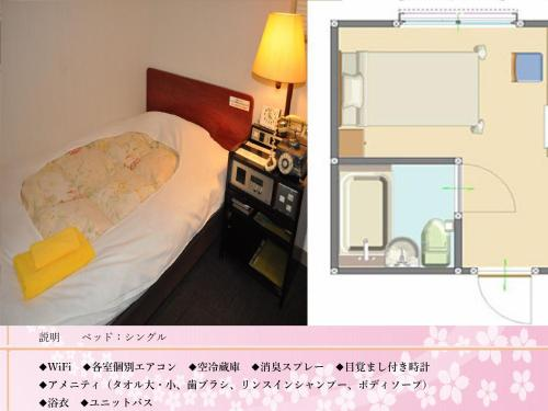 The floor plan of Kochi Sakura Hotel