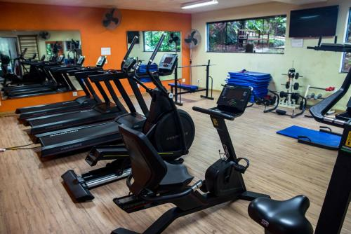 Фитнес-центр и/или тренажеры в Ecoresort Refúgio Cheiro de Mato