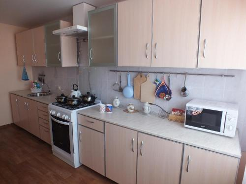 Кухня или мини-кухня в Гостиница Уютное Гнездышко