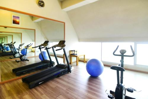 The fitness centre and/or fitness facilities at Rhadana Hotel