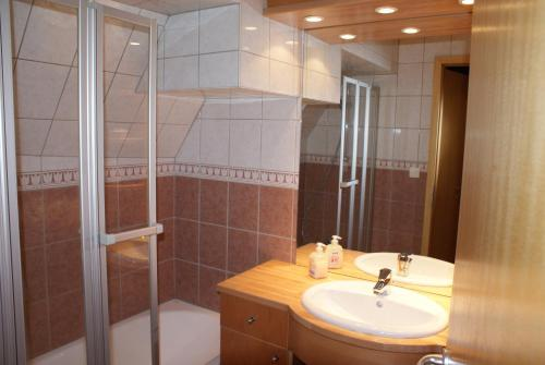 A bathroom at Hôtel Restaurant Le Schlossberg