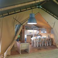 Luxe glamping tent
