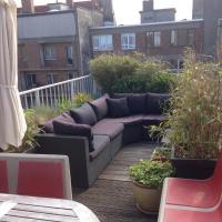 bright duplex, roofterrace, free P