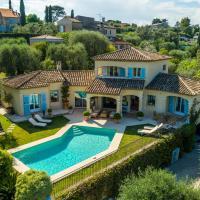 Luxurious Villa with Private Pool in La Roquette-sur-Siagne, hotel in La Roquette-sur-Siagne