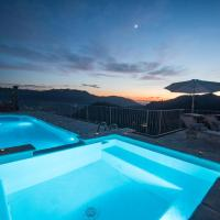 Charming farmhouse in the hills, private pool, sea view, dream panorama