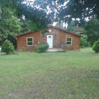 Cedar cabin located on a buffalo farm