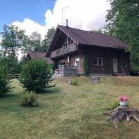 Деревянный дом с сауной и камином у леса, озера и СПА