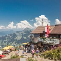 Hocheckhuette On Top of the Kitzbuehel Hahnenkamm Mountain