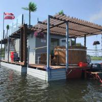 Houseboat on the water