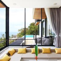 Luxury Sea and Sunset View 4BR 4BA Pool Villa, hotell sihtkohas Mae Haad