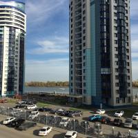 Апартаменты на набережной в новом доме с видом на реку и WiFi, отель в Барнауле