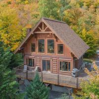 Log Cabin Home with Lake and Mountain view by Reserver.ca, hotel in Sainte-Adèle