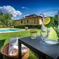 Montefiridolfi Villa Sleeps 12 Pool WiFi, hotell i Montefiridolfi