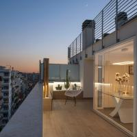 Penthouse with a panoramic rooftop in Trastevere