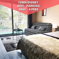 Studio Grey - Grand studio (4pers) près de Disneyland Paris, hôtel à Lagny-sur-Marne