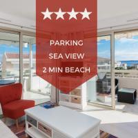 KIKILOUE ❤ RARE ❤ Sea view & terrace in the heart of Cannes Palm Beach