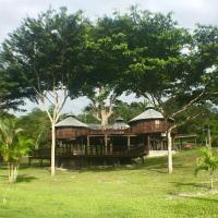 Exotic High End Unique Off-The-Grid Treehouse, steps away from the Mopan River!