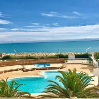 Appartement belle vue mer piscine tennis mini golf wifi, hotel in Le Barcarès