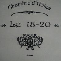 Chambre d'hôte le 18-20