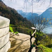 Panorama Jurte Über Dem Uri-See (Sisikon)