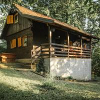 WOODEN HOUSE near the River Kupa