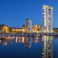 Penthouse Swansea Marina City Centre 100m from Beach