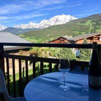 Appartement cosy et chaleureux à Megève avec vue sur le Mont Blanc