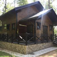 Домик в лесу на берегу озера, отель в городе Александровка