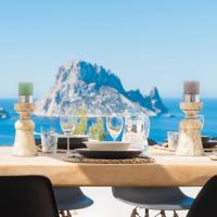 Villa Vedra, jacuzzi, close to beach, supermarket, restaurant and with sea view of Es Vedra and Cala Vadella ET-0747-E
