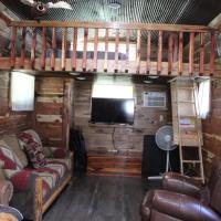 Amish made cedar cabin with a loft on a buffalo farm close to the Buffalo River