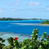 BLUE LAGOON LODGE HUAHINE, vue mer et accés privé lagon