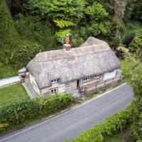 Thatched cottage, Wherwell in the the Test Valley