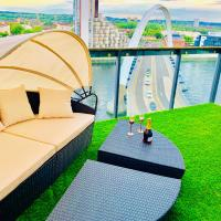 Glasgow City Centre - The PENTHOUSE with RiverViews - (Duplex, 3 Bedrooms, 3 Bathrooms, 2 Living rooms/Kitchen, Private SKY Terrace, 2 Parkings, Top Floor, Huge - 2100 sq ft, SECC HYDRO)
