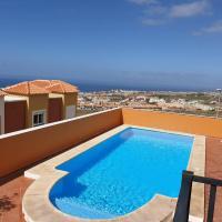 Villa Roque del Conde with private pool, terrace with fantastic sea views, Wifi, garden, garage