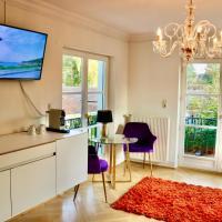 Villa am Steinhuder Meer DZ-Azur- mit Pantry Küche, Luftreinigungssystem, Garten, Wlan, Hotel in Steinhude