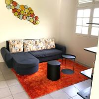 Apartment with one bedroom in Saint-Joseph, with wonderful mountain view, furnished garden and WiFi - 10 km from the beach