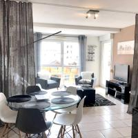 Apartment with one bedroom in Gérardmer, with wonderful city view, furnished balcony and WiFi