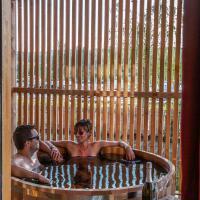 Les Lodges de la ViaRhôna / cabane-spa, hotel in Virignin