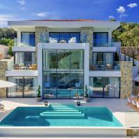 Brna Villa Sleeps 8 Pool Air Con WiFi, hotel in Brna