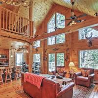 Newly Built Bethel Log Cabin with Deck Near Skiing!