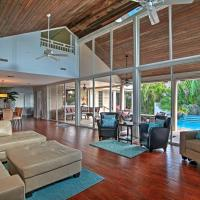 Large Pompano Home with Pool 1 Block to Private Beach