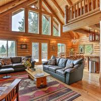 Log Home on 40 Private Acres By Mt Shasta Ski Park, hotel in McCloud