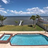 Waterfront Titusville Resort Home with Pool and Hot Tub