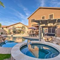 Home with Waterfall Pool & Hot Tub in San Tan Valley!